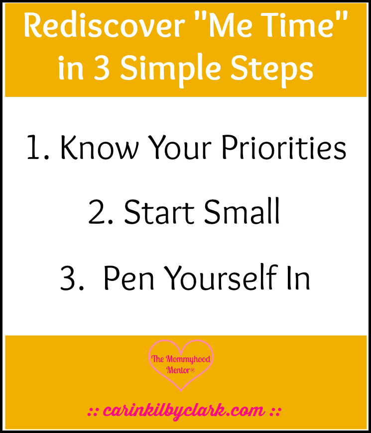 """Rediscover """"Me Time"""" in 3 Simple Steps"""